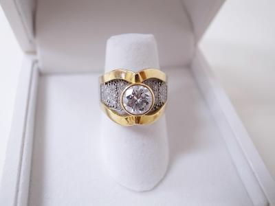 ダイヤモンド買い取り (1.0ct コンビ 指輪)藤沢市石川