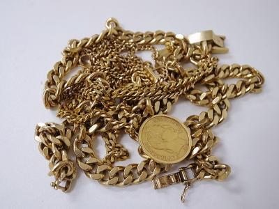 ネックレス買い取り (金 ゴールド メダル)藤沢市湘南台