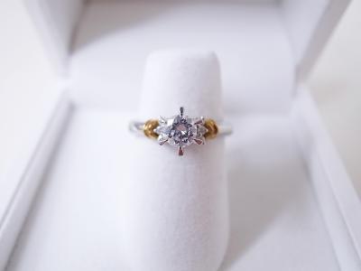 ダイヤモンドリング買取 (コンビ 指輪 0.3ct)藤沢市獺郷