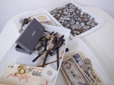 遺品整理 (古銭 時計 アクセサリー 商品券)藤沢市長後