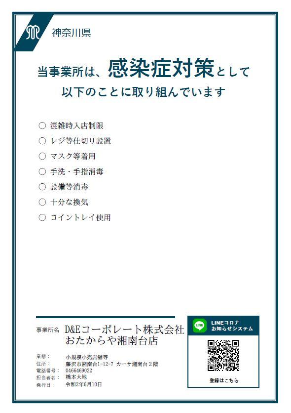 新型コロナウイルス対策(神奈川警戒アラート)について